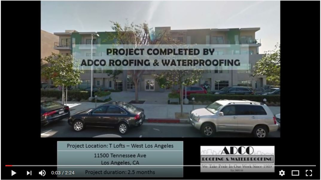 T Lofts West Los Angeles Ca Adco Commercial Roofing