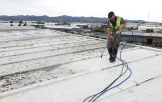 Roof cleaning or roof washing